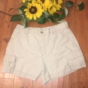 Vintage J. Crew Grey Cargo Shorts Size Medium